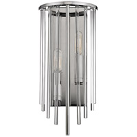 Lewis 2 Light 7 inch Polished Nickel Wall Sconce Wall Light