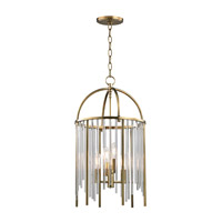 Lewis 4 Light 13 inch Aged Brass Pendant Ceiling Light