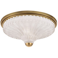 Paris 2 Light 14 inch Aged Brass Flush Mount Ceiling Light