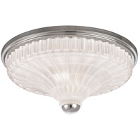 Paris 2 Light 14 inch Polished Nickel Flush Mount Ceiling Light
