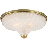 Paris 3 Light 17 inch Aged Brass Flush Mount Ceiling Light