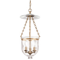 Hampton 3 Light 10 inch Aged Brass Pendant Ceiling Light in C3