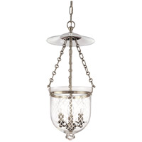 Hampton 3 Light 10 inch Historic Nickel Pendant Ceiling Light in C2