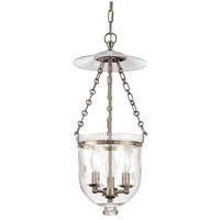 Hampton 3 Light 10 inch Historic Nickel Pendant Ceiling Light in C3