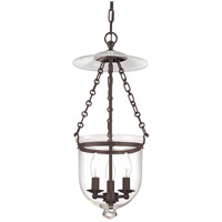 Hampton 3 Light 10 inch Old Bronze Pendant Ceiling Light in C1