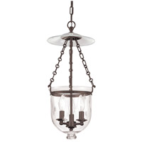 Hampton 3 Light 10 inch Old Bronze Pendant Ceiling Light in C3