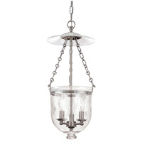 Hampton 3 Light 10 inch Polished Nickel Pendant Ceiling Light in C3