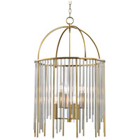 Hudson Valley Lighting Lewis 6 Light Pendant in Aged Brass 2520-AGB