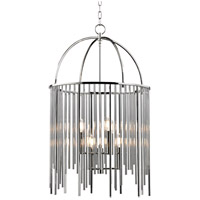 Lewis 6 Light 21 inch Polished Nickel Chandelier Ceiling Light