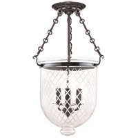 Hudson Valley Lighting Hampton 3 Light Semi Flush in Historic Nickel 253-HN-C2