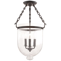 Hudson Valley Lighting Hampton 3 Light Semi Flush in Old Bronze 253-OB-C1