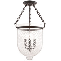Hudson Valley Lighting Hampton 3 Light Semi Flush in Old Bronze 253-OB-C2