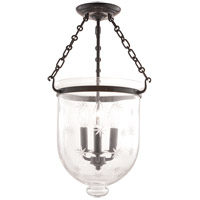 Hudson Valley Lighting Hampton 3 Light Semi Flush in Old Bronze 253-OB-C3