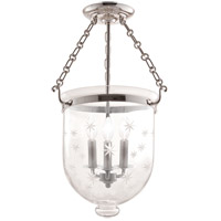 Hudson Valley Lighting Hampton 3 Light Semi Flush in Polished Nickel 253-PN-C3