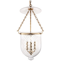 Hudson Valley 254-AGB-C2 Hampton 3 Light 12 inch Aged Brass Pendant Ceiling Light in C2