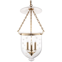 Hudson Valley Lighting Hampton 3 Light Pendant in Aged Brass 254-AGB-C3