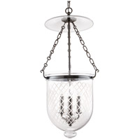 Hampton 3 Light 12 inch Historic Nickel Pendant Ceiling Light in C2