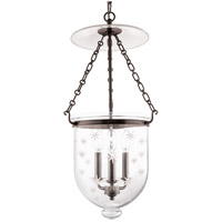 Hampton 3 Light 12 inch Old Bronze Pendant Ceiling Light in C3