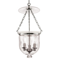 Hampton 3 Light 12 inch Polished Nickel Pendant Ceiling Light in C3