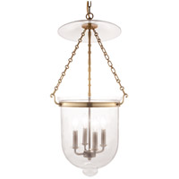 Hudson Valley 255-AGB-C1 Hampton 4 Light 15 inch Aged Brass Pendant Ceiling Light in C1