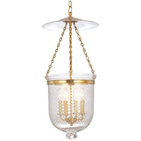 Hudson Valley Lighting Hampton 4 Light Pendant in Aged Brass 255-AGB-C2