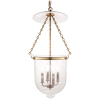 Hudson Valley 255-AGB-C3 Hampton 4 Light 15 inch Aged Brass Pendant Ceiling Light in C3