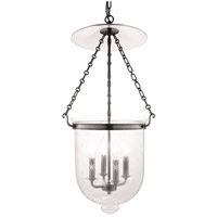 Hudson Valley 255-HN-C3 Hampton 4 Light 15 inch Historic Nickel Pendant Ceiling Light in C3