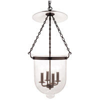 Hampton 4 Light 15 inch Old Bronze Pendant Ceiling Light in C1