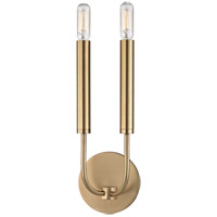 Hudson Valley 2600-AGB Gideon 2 Light 5 inch Aged Brass ADA Wall Sconce Wall Light