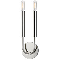 Gideon 2 Light 5 inch Polished Nickel ADA Wall Sconce Wall Light