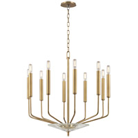 Gideon 10 Light 24 inch Aged Brass Chandelier Ceiling Light