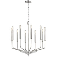 Gideon 10 Light 24 inch Polished Nickel Chandelier Ceiling Light