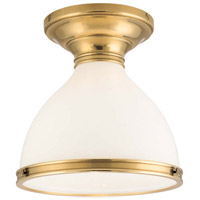 Randolph 1 Light 10 inch Aged Brass Semi Flush Ceiling Light