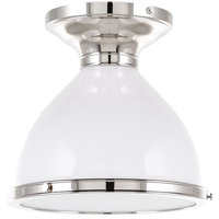 Hudson Valley Lighting Randolph 1 Light Semi Flush in Polished Nickel 2612-PN