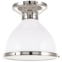 Hudson Valley Lighting Randolph 1 Light Semi Flush in Satin Nickel 2612-SN