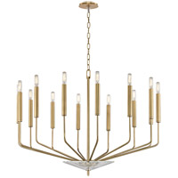 Gideon 14 Light 33 inch Aged Brass Chandelier Ceiling Light