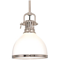 Hudson Valley Lighting Randolph 1 Light Pendant in Polished Nickel 2621-PN
