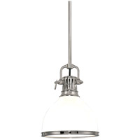 Hudson Valley 2623-PN Randolph 1 Light 13 inch Polished Nickel Pendant Ceiling Light photo thumbnail
