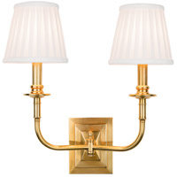 Lombard 2 Light 14 inch Aged Brass Wall Sconce Wall Light