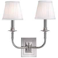 Hudson Valley 2702-PN Lombard 2 Light 14 inch Polished Nickel Wall Sconce Wall Light photo thumbnail
