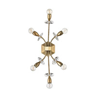 Alexandria 6 Light 13 inch Aged Brass Wall Sconce Wall Light