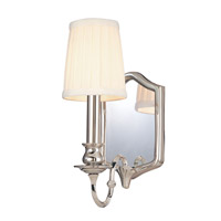 Hudson Valley Lighting Endicott 1 Light Wall Sconce in Polished Nickel 271-PN