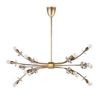 Alexandria 16 Light 39 inch Aged Brass Island Chandelier Ceiling Light