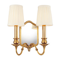 Hudson Valley Lighting Endicott 2 Light Wall Sconce in Aged Brass 272-AGB