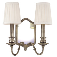 Endicott 2 Light 11 inch Old Nickel Wall Sconce Wall Light