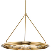 Hudson Valley 2732-AGB Chambers 9 Light 32 inch Aged Brass Pendant Ceiling Light