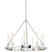 Hudson Valley 2732-PN Chambers 9 Light 32 inch Polished Nickel Pendant Ceiling Light