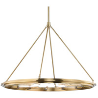 Hudson Valley 2745-AGB Chambers 12 Light 45 inch Aged Brass Pendant Ceiling Light