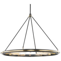Hudson Valley 2745-AOB Chambers 12 Light 45 inch Aged Old Bronze Pendant Ceiling Light