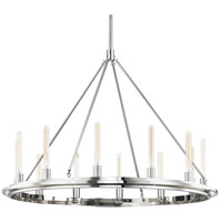 Hudson Valley 2745-PN Chambers 12 Light 45 inch Polished Nickel Pendant Ceiling Light